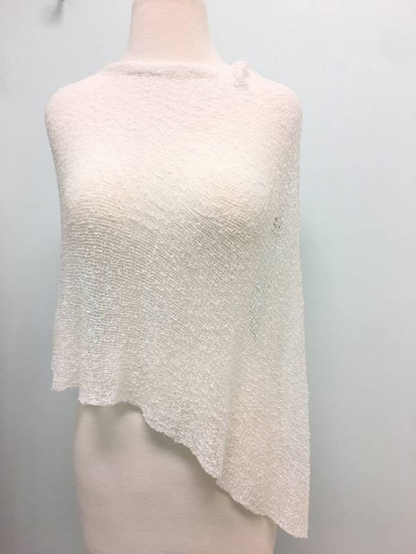 Sheer 5 Way Poncho White