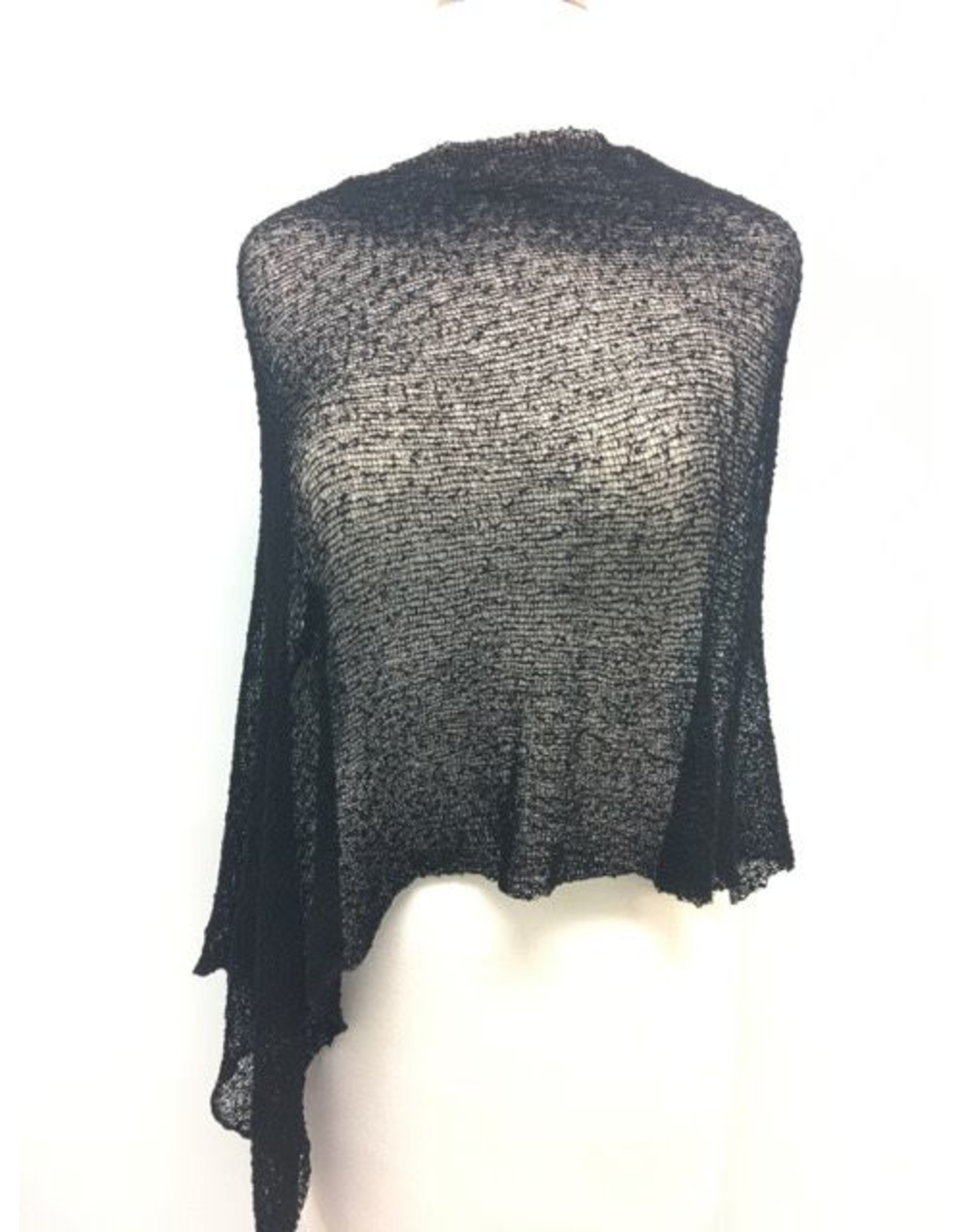 Sheer 5 Way Poncho Black