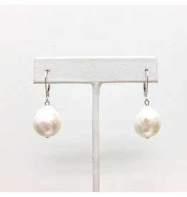 A+ Baroque Pearl Leverback Earrings
