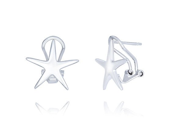 Starfish French Clip Stud Earrings