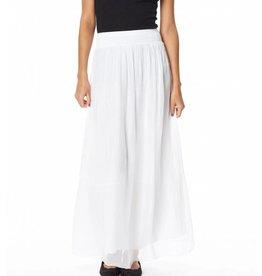 White Silk Maxi Skirt