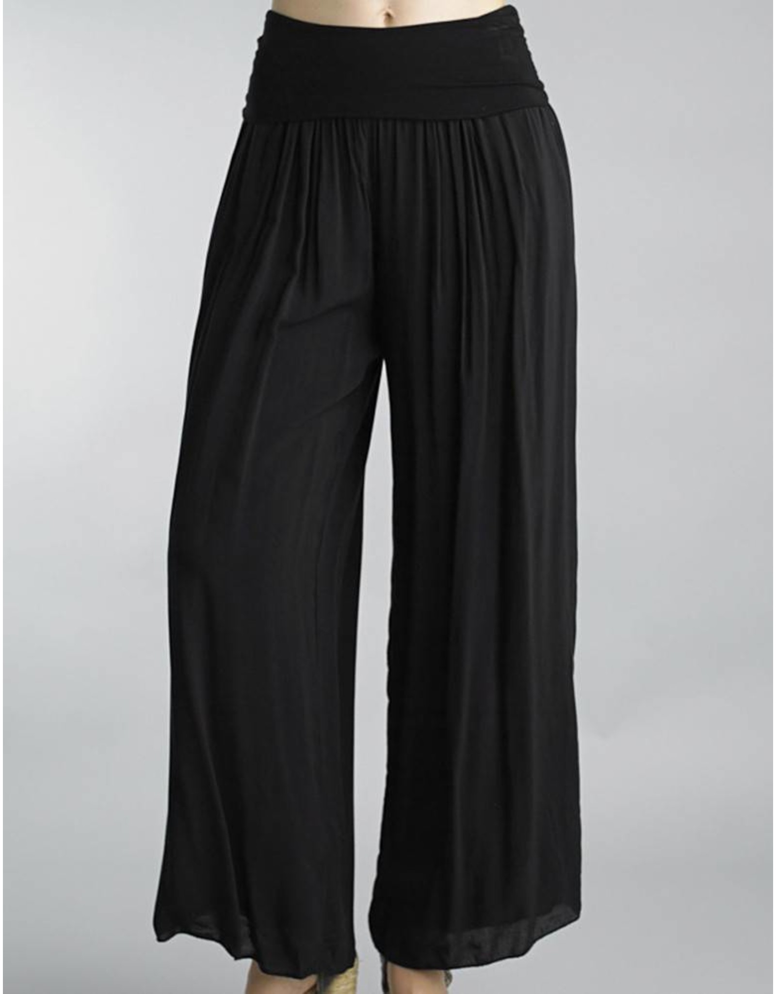Black Silk Lined Pants