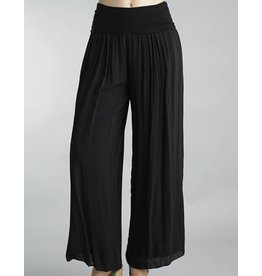 Black Silk Lined Pants