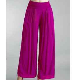 Fuchsia Silk Pants