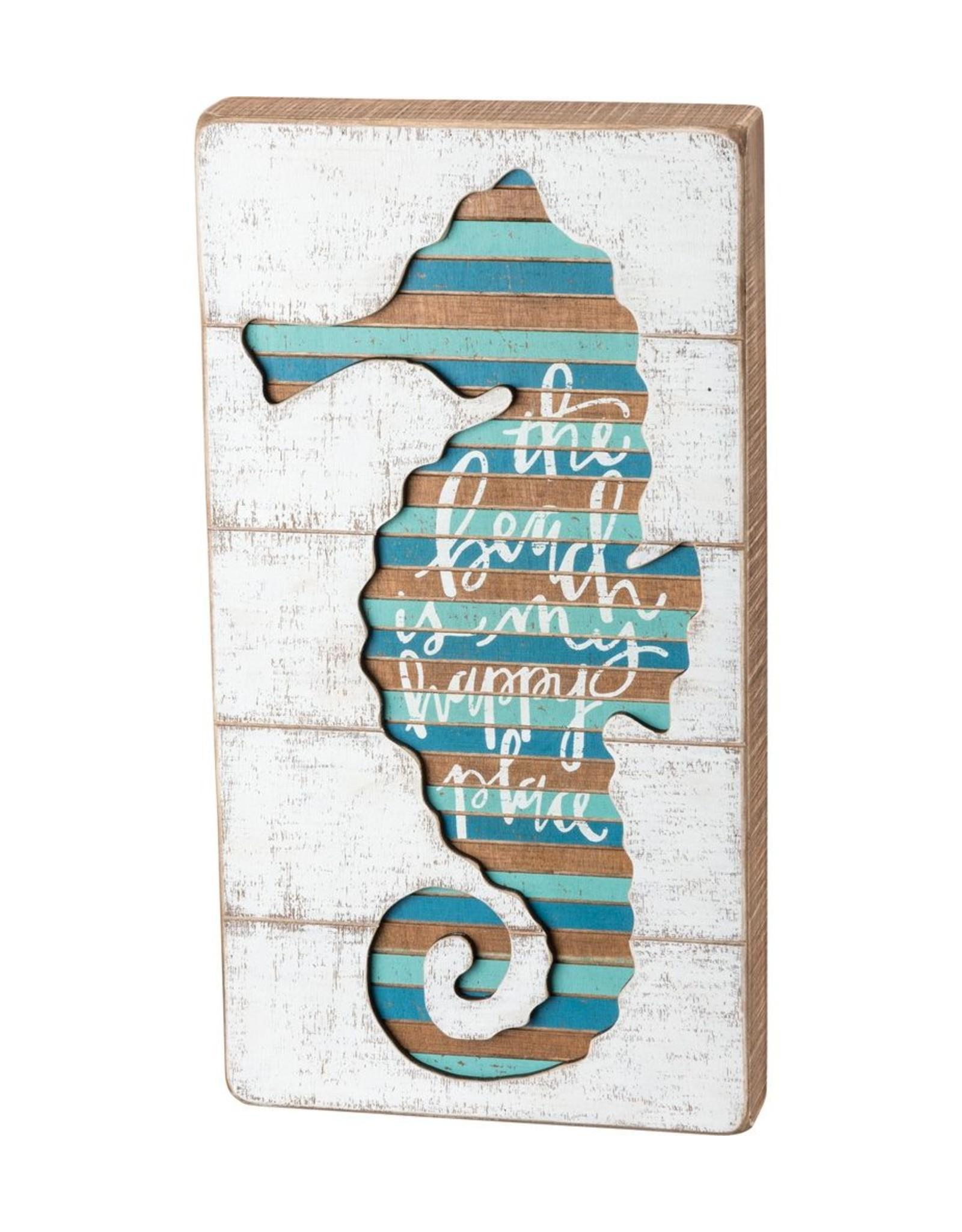 Seahorse Slat Sign