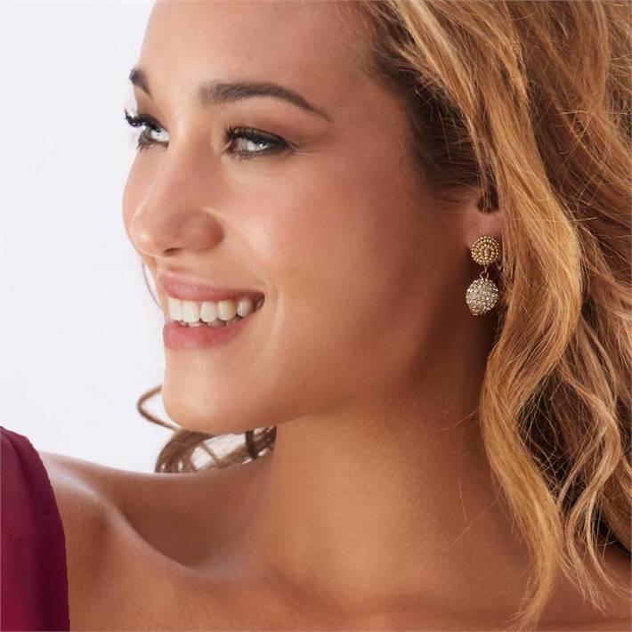 Crystal Ball Earring Set