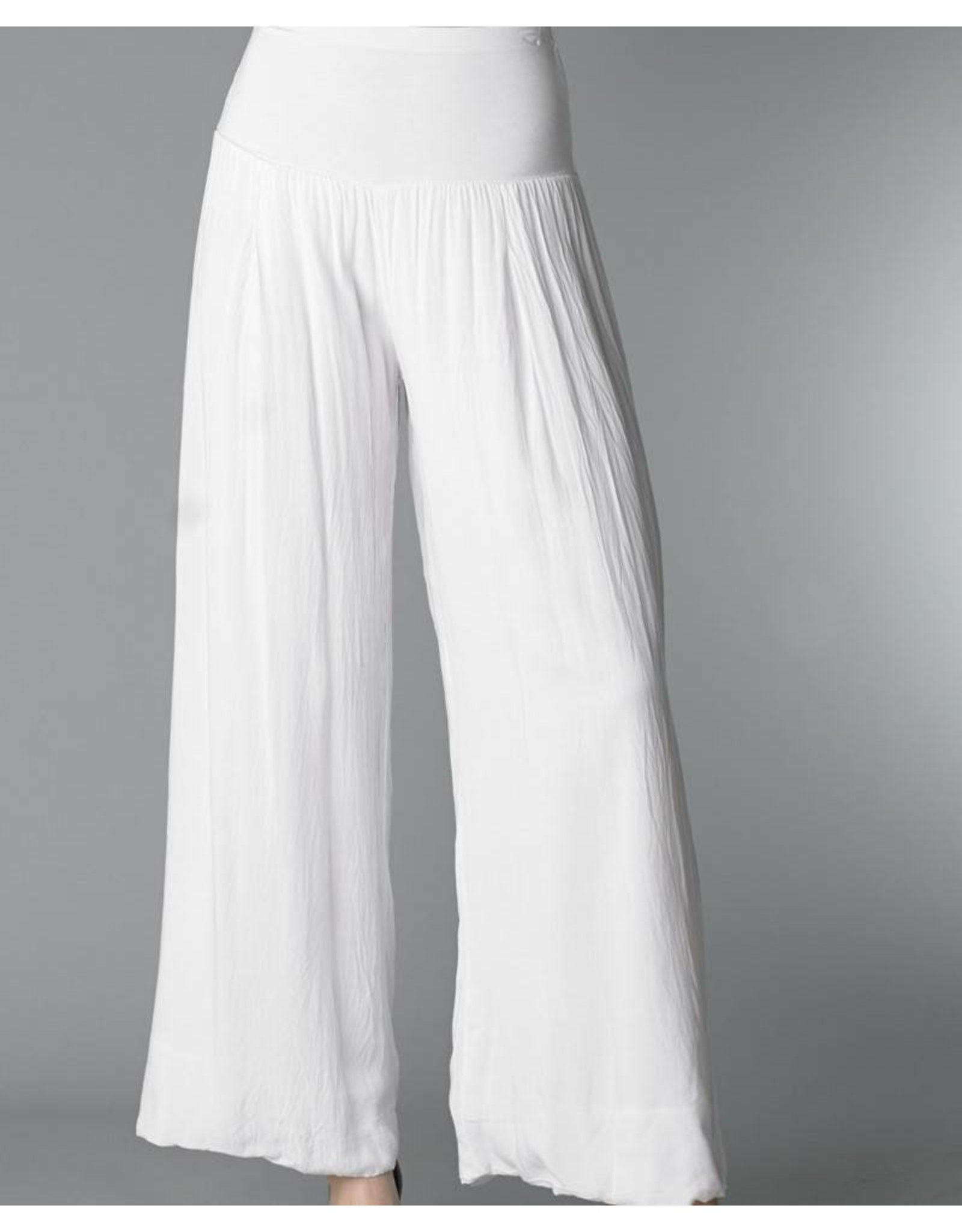 White Silk Lined Pants