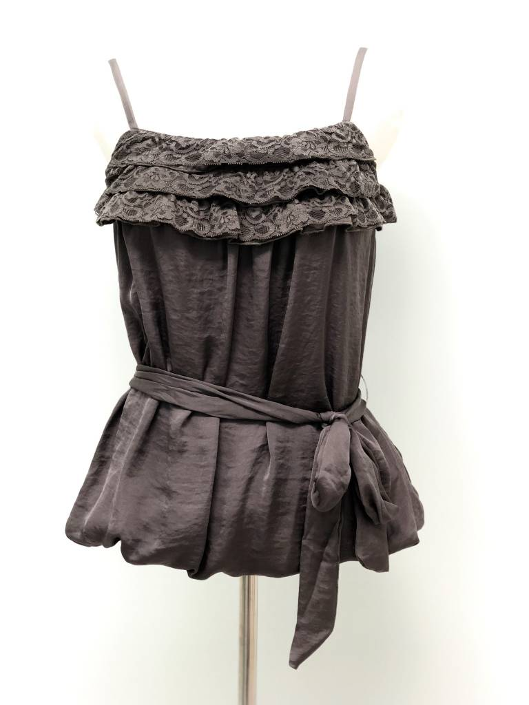 Grey Belted Bubble Top