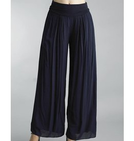Navy Silk Lined Pants