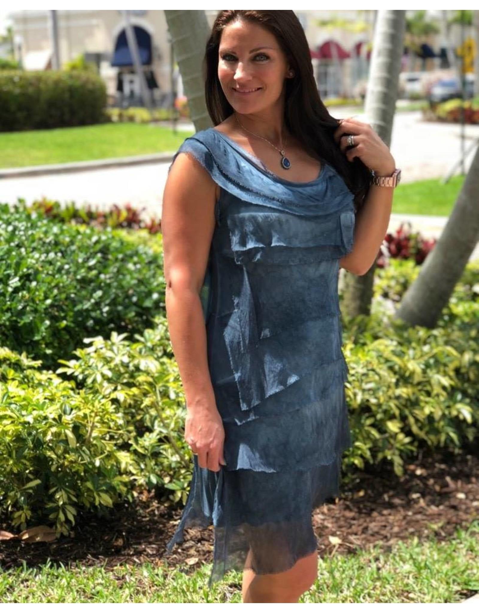 Denim Flutter Dress
