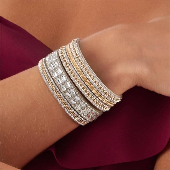Gold & Crystal Magnetic Bracelet