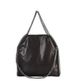 Black Chain Trim Shoulder Bag