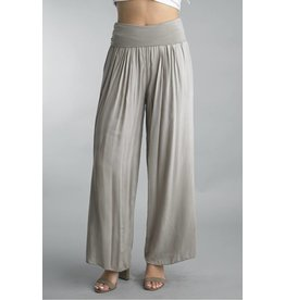 Khaki Silk Lined Pants