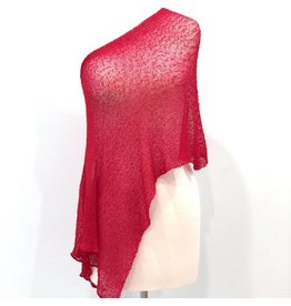 Sheer 5 Way Poncho Red