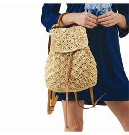 Natural Crochet Backpack