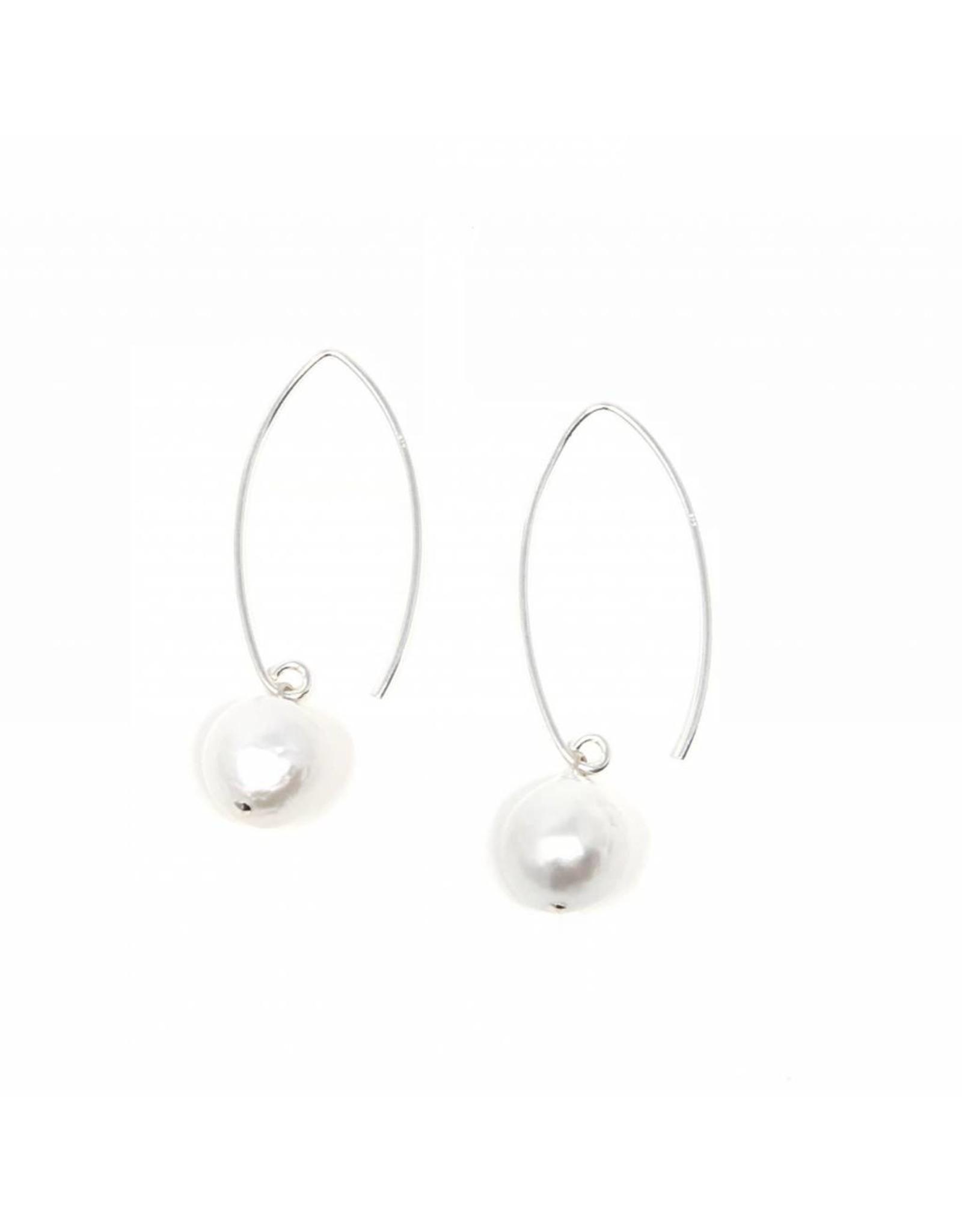Baroque Pearl Large Hook Earrings