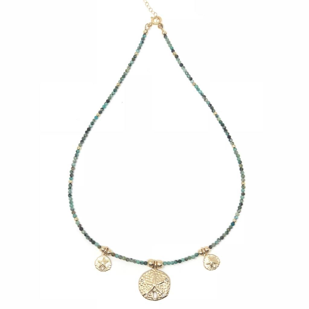 Nat. Turquoise & GF Sand Dollar