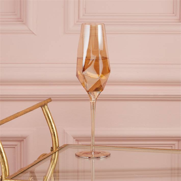 Diamond Champagne Glasses