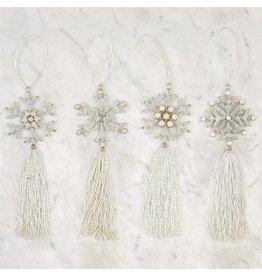 Snowflake Tassel Ornament