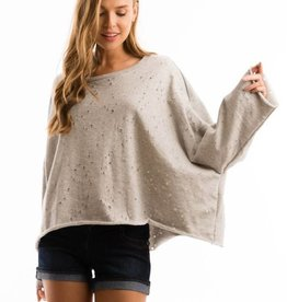T31190 Terry Sweater Grey