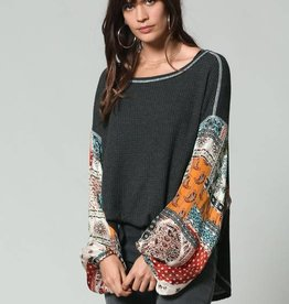 RJ795 Gypsy Soul Charcoal Bright Multi Sleeves