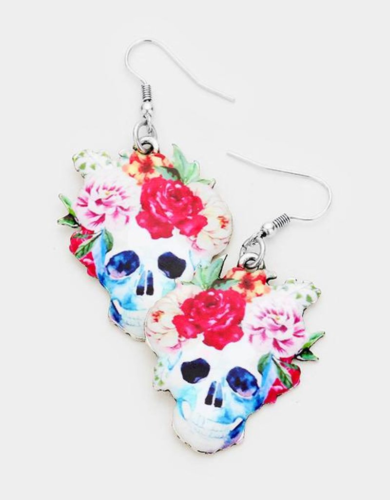 409834 Freida Skull Earrings