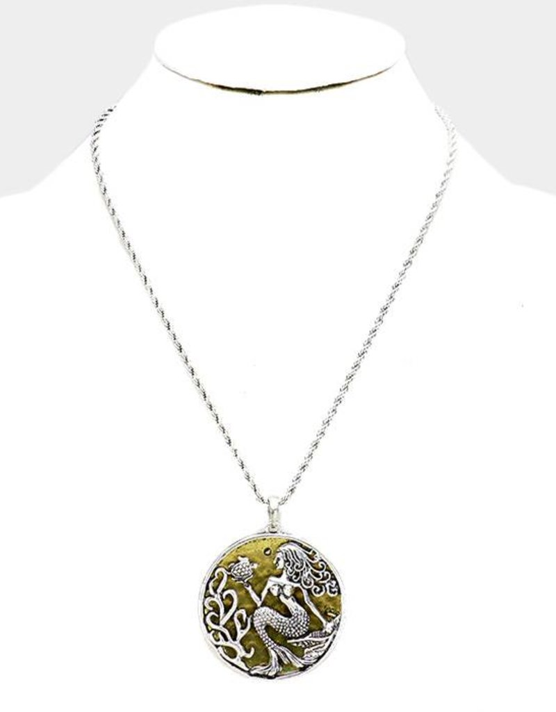 383282 Under The Sea Silver Gold Medallion