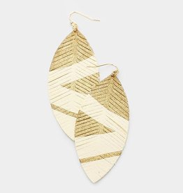 404724 Painted Leaves Ivory