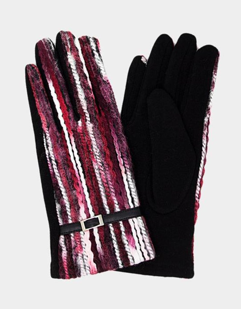 406289 Colorful Spagetti Gloves Burgundy