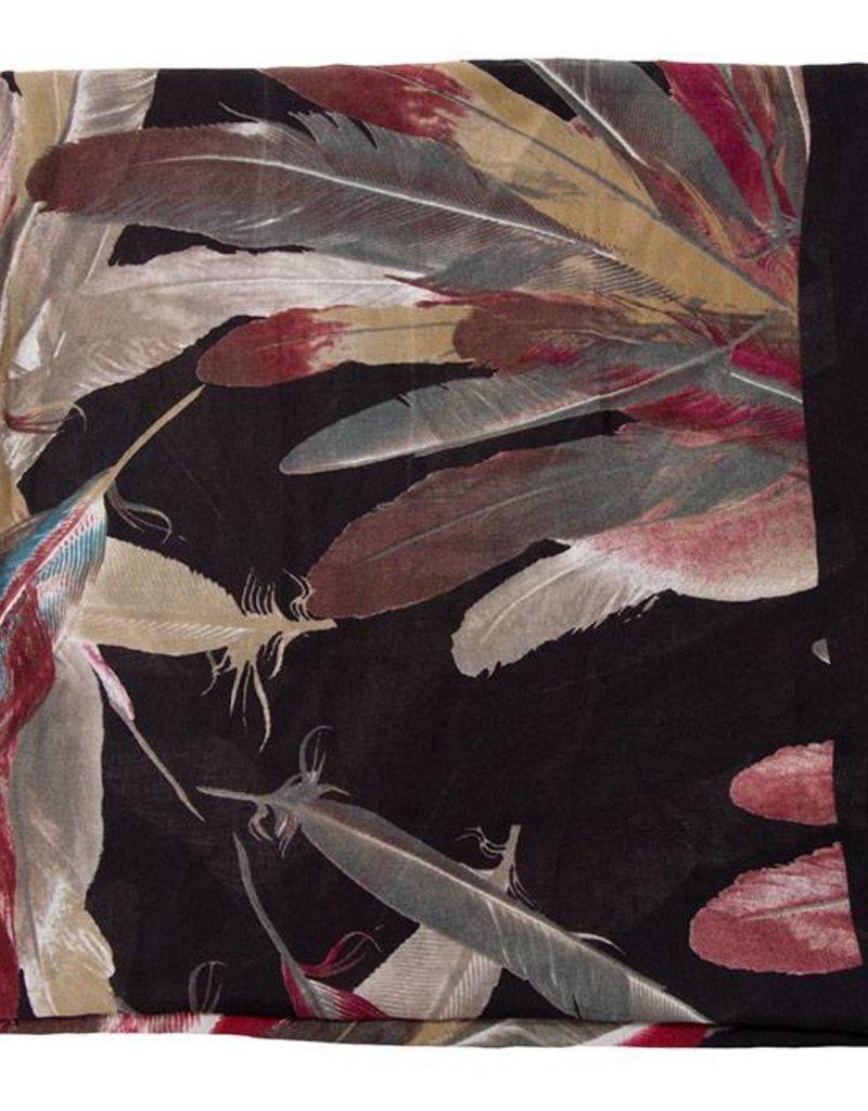 413372 Wild Bird Scarf Black