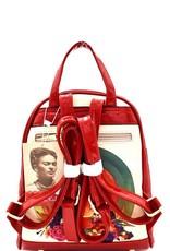 930 Frida Kahlo Backpack Red