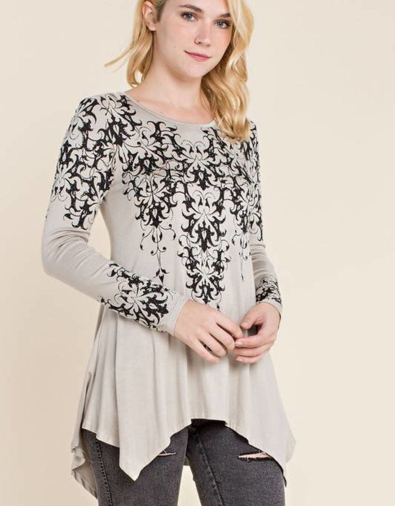 15503L Midnight Chandelier Tunic