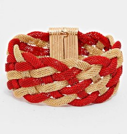 243761 Holiday Chain Bracelet Red