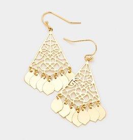 367769 Dangle Fringe Earrings Gold