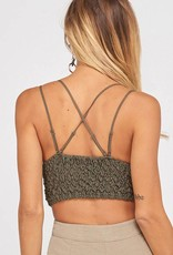 0136 All I Want For Christmas Is You Bralette Olive