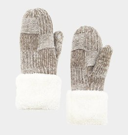 400363 Snuggle Mittens Taupe ONE SIZE