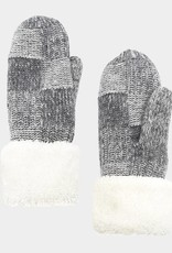 400360 Snuggle Mittens Grey ONE SIZE