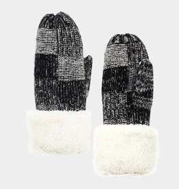 400359 Snuggle Mittens Black ONE SIZE