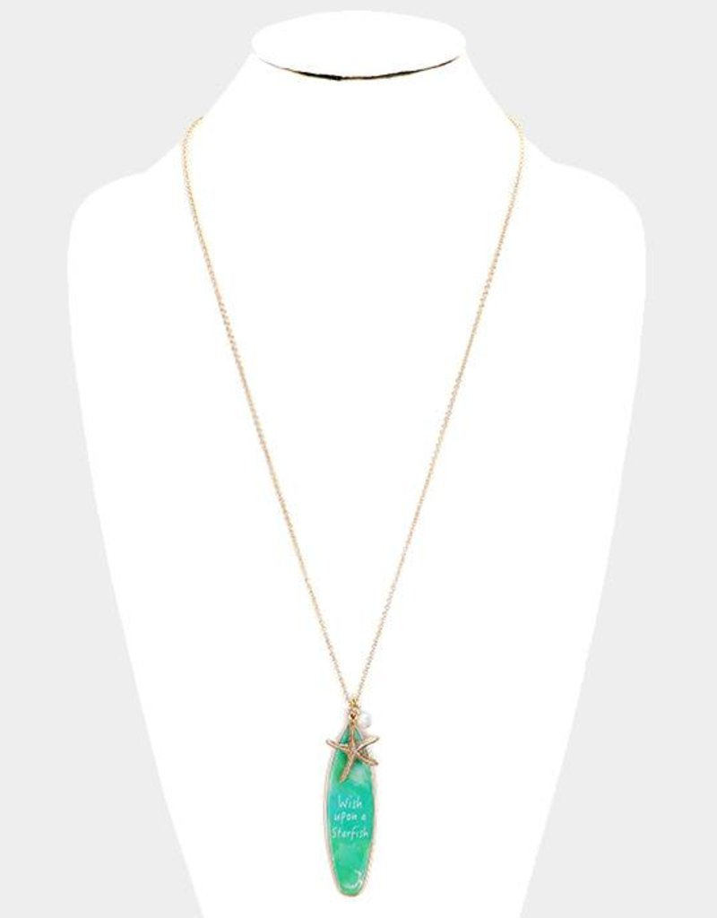 Wish Upon A Starfish Long Necklace GD