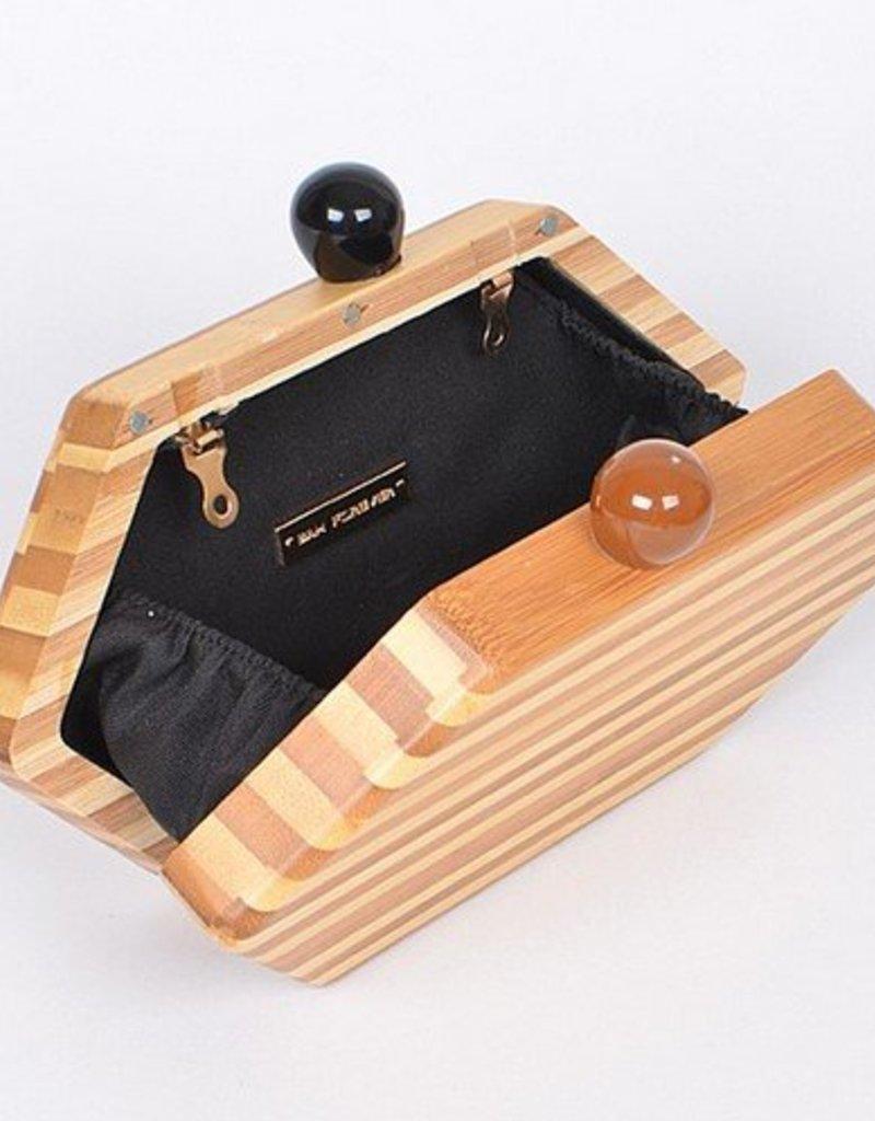 Bag Boutique C5877 Wood Clutch