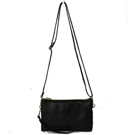 5002 Double Zipper Ostrich Black