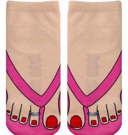 4037A Flip Flop Pale Ankle Socks