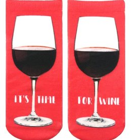 7225A It's Time For Wine Ankle Socks