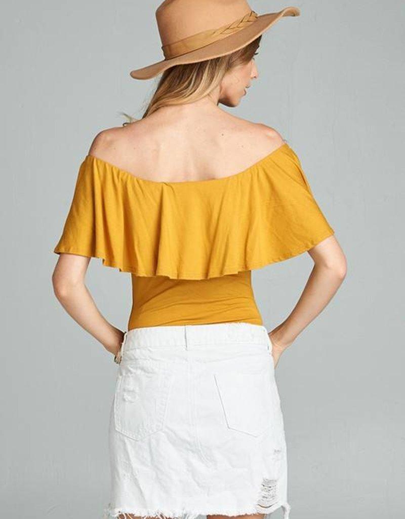 12610 Leila Bodysuit Mustard