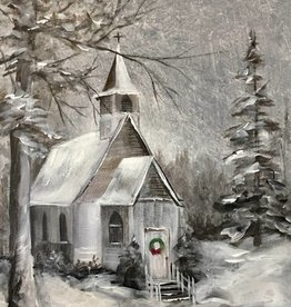 Christmas Church Painting