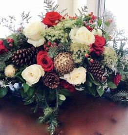 Christmas Centerpiece Arrangement: Saturday, December 22nd 11:30am