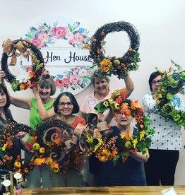 Spring Wreath Workshop: Feb. 28th- 11:30am