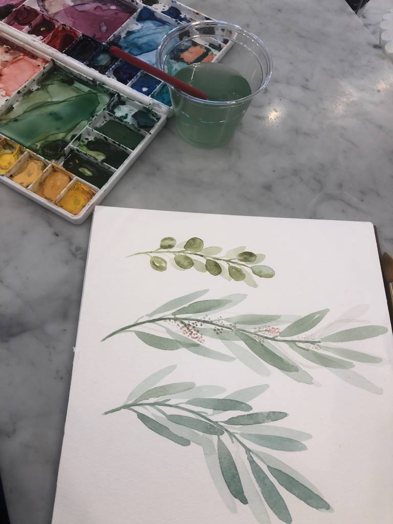 Watercolor Basics with Sarah Bubar: April 20th, 10:30am