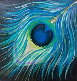 Fine Art Painting : Peacock Feather, Thursday, Feb. 28th: 4:00-6:00pm