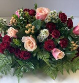 Valentine Floral Centerpiece: LARGE (approx 34 stems)